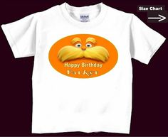 The Lorax Birthday T Shirt Personalized childs name boys girls Infant T Shirts -- 2t 3t 4t -- youth sizes  Kids T Shirts Etsy. $9.99, via Etsy.