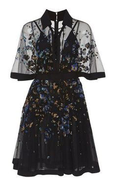 Embroidered Bell Sleeve MinI Dress by Elie Saab Resort 2019 - #Bell #Dress #Elie #embroidered #Mini #Resort #Saab #Sleeve Fashion, Dress, Moda, Fasion