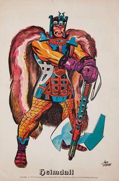 The Original Heimdall Asgardian Gods by Jack Kirby