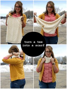how to: wear a tee shirt as a scarf
