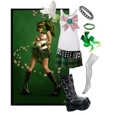 Hardcore punk Sailor Jupiter by tragedycore on Polyvore featuring Splendid, Monsoon, M. Cohen, NLY Accessories, Hari Jewels, Forever 21 and Aspinal of London