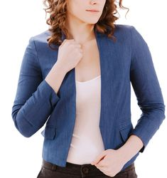 The Perfect Blazer in Chambray, sizes S-M ($54.00) - available now! #petitefriendly