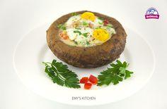 Orice, Baked Potato, Stuffed Mushrooms, Potatoes, Baking, Breakfast, Ethnic Recipes, Kitchen, Food