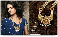 Indian Bridal Jewelry - Necklace from Temple Jewelry collection of TBZ