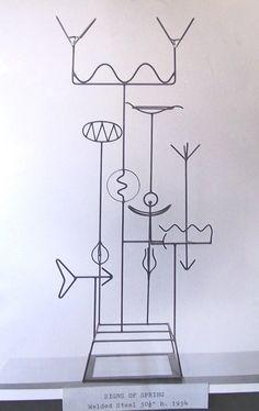Metal sculpture by Harry E. Spring Sign, Sculpture, Steel, Home Decor, Art, Homemade Home Decor, Craft Art, Sculpting, Kunst