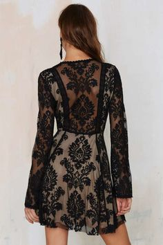 Romantics Lace Dress - Black - Best Sellers   Back In Stock   Going Out   Fit-n-Flare   Dresses