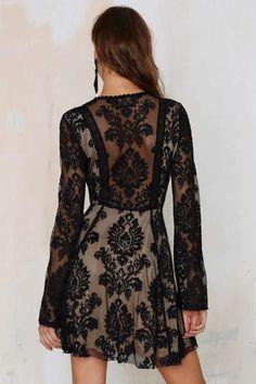 Romantics Lace Dress - Black ==