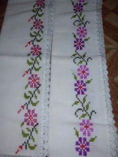 Cross Stitch Borders, Cross Stitch Flowers, Cross Stitching, Cross Stitch Patterns, Hand Embroidery Stitches, Hand Embroidery Designs, Cross Stitch Embroidery, Crochet Bedspread, Beaded Cross