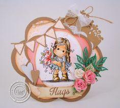 Hugs card by Janet Blaauw