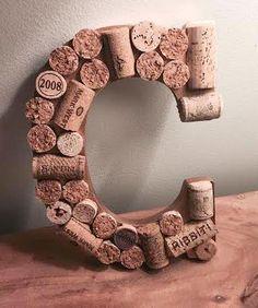 Wine cork letter tutorial
