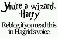 yer a wizard harry-Hagrid