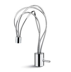 "Morpho 61810 Single-lever basin mixer with swivel spout, without pop-up waste set. 3/8"" female connection hoses.  Available finishes: Chrome"