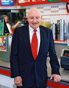 "Meet the extraordinary Samuel Truett Cathy. He is the patriarch of the second largest chicken fast-food chain in the United States, the Chick-fil-A. The restaurant has been around since the 1940s and has thrived despite controversies. They are known for being closed on Sundays,  he devotes his Sundays to the Lord and he wants his employees to rest like what is commanded in the Bible. ""We serve God through serving people"". Samuel Truett Cathy http://www.thextraordinary.org/s-truett-cathy"