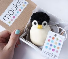 Stress ball, Penguin, Antarctica  Mookie toy. Knead it, form it any way you want!  Colours: Head: White, Hair: Black  This little nice Mookie toy privides many fun moments for the children and their parents also. It perfectly works as a stress ball or can be used to express your current mood. Mookie toys offer numerous different activities for children: They can form various facial expressions like smiley, happy or sad Mookie face. It may help them/children understanding and expressing…