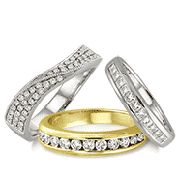 Our sparkling Wedding Bands signify love and devotion. Pledge your vows of eternal union with our mesmerizing Wedding Bands. Gift your soul mate any of these beautiful circles as souvenir of your endless love & commitment.