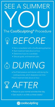 Go into the CoolSculpting procedure knowing what to expect. There's no surgery or downtime, so you can get back to your busy life. Click through to take the first step.   Rules of Engagement: https://www.facebook.com/CoolSculpting?sk=app_190322544333196&app_data=visitor_mode