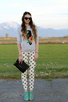 { Little J Style: Toucan Sweater & Polka Dot Jeans }