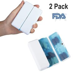 Storage Boxes & Bins Shop For Cheap 7 Lattice Medicine Box Portable Magnetic Suction Closed Medicine Box Packing Box For A Week Attractive And Durable