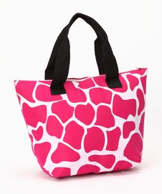 Take a look at this Pink Giraffe Insulated Lunch Tote by Dennis East International on #zulily today!