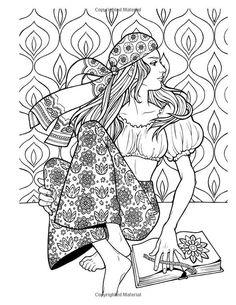 Groovy Fashion Coloring Book for Adults: Adult Coloring Books Fashion, Coloring Book People Coloring Pages, Cat Coloring Page, Free Adult Coloring Pages, Disney Coloring Pages, Coloring Book Pages, Free Coloring, Coloring Sheets, Up Imagenes, Gravure Laser