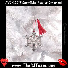 #Avon 2017 Snowflake #Pewter #Ornament. Continue the annual tradition of collecting Avon's pewter ornaments with this year's new addition. Reg. $9.99. #Collectible #AvonCollectible #Snowflake #C24 #2017 #Christmas #GiftBag #ChristmasDecor #Gift #GiftIdeas Shop Avon Online @ www.TheCJTeam.com