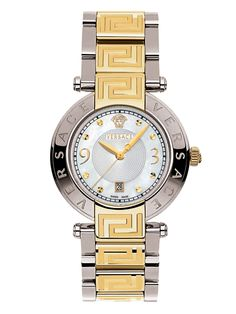 Reve Two-Tone & Mother of Pearl Watch, 35mm from Day-Glam Watches Feat. Versace on Gilt