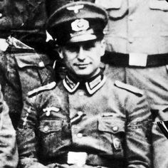 """War criminal - 'Klaus' Barbie 1913 – 1991) was an SS-Hauptsturmführer Gestapo member. He was known as the """"Butcher of Lyon"""" for having personally tortured prisoners of the Gestapo while stationed in Lyon, France. After the war, United States intelligence services employed him for anti-communist efforts and also helped him escape to South America. Sentenced in 1980 to imprisonement, he died in prison 1991."""