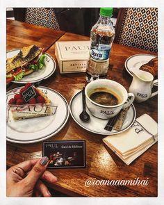 Sugar addiction Breakfast 🍰☕️->@ioanaaamihai Paul's bakery