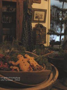 HighButtonShoe Christmas table.