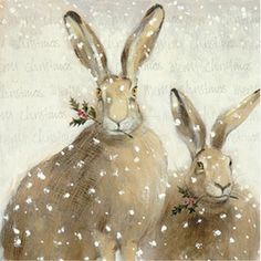 Winter white bunnies…originally from Nordic Style