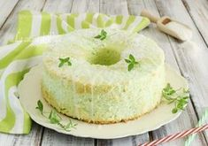 Chiffon cake cocco e menta American Cake, Angel Cake, Different Cakes, Chiffon Cake, Cake Cookies, Wine Recipes, Vanilla Cake, Food To Make, Cheesecake