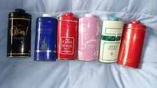 AVON Vintage Tins Talc x 6 - Occur, Moonwind, Foxfire, Charisma, Somewhere &
