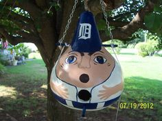 Handpainted  Baseball Birdhouse Gourd by inmypaintedgarden on Etsy, $26.00