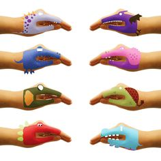 Hand and shadow puppets take on a whole new dimension with these terrific temporary tattoos!