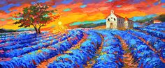 Chapel in Provence  Oil palette knife on canvas Painting by