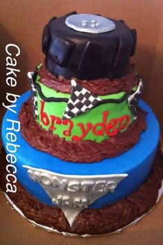 Monster Jam birthday cake. Looks yummy. :D