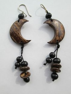 1 Paar Ohrringe Samen aus Brasilien Länge ca. 10cm Ohr Hippie Goa 3