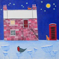 Winter Calls by Ailsa Black Ailsa Black. Christmasgreeting card published by Art Cove UK.