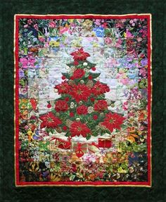 Oh! Christmas Tree Watercolor Quilt Kit and Border Bundle Whims