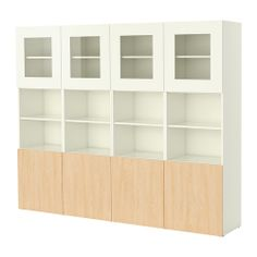 BESTÅ Storage combination with doors   - IKEA. with white doors, no open shelving or middle two open for books