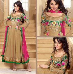 Buy Luscious Bige Brown Salwar Kameez on Special Price. Visit Now For Detail - http://www.gravity-fashion.com/10205-luscious-bige-brown-salwar-kameez.html