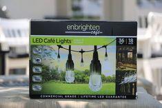 Enbrighten Café Lights and DIY Light Pole Planter String Lights Outdoor, Outdoor Lighting, Outdoor Cafe, Indoor Outdoor, Decoration, Decor Diy, Home Decor, Diy Light Fixtures, Pot Lights