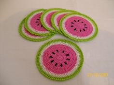 Fruit plate designs kitchens 58 ideas for 2019 Crochet Fruit, Crochet Food, Love Crochet, Crochet Motif, Crochet Designs, Crochet Crafts, Crochet Doilies, Yarn Crafts, Crochet Flowers
