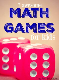 7 awesome and fun math games for kids - Love These!