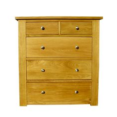 A simple and stylish solid oak chest of drawers with 2 and 3 drawers that is elegant looking and pleasingto the eye, and makes a beautiful combination with any of the side tables and beds.
