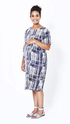 Koka Mama Shift Dress Maternity Fashion, Maternity Style, High Neck Dress, Casual, Collection, Dresses, Turtleneck Dress, Vestidos, Maternity Styles