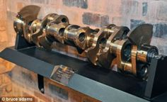 An example of the Rolls-Royce Merlin engine crankshaft made in Sheffield. The shafts were used in Spitfire fighters and Lancaster bombers during the Second World War Rolls Royce Merlin, Nick Clegg, Sheffield Steel, World Industries, Lancaster Bomber, Happy City, Steel Columns, Uk News, Derbyshire