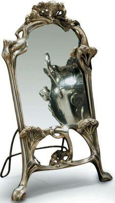 Art Nouveau - Miroir - Ombelles - Auguste Moreau