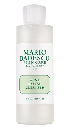 Cleanse and clarify oily, troubled skin with Mario Badescu's best-selling Acne Facial Cleanser. Cleanser For Oily Skin, Face Cleanser, Face Serum, Moisturizer, Acne Facial, Acne Skin, Acne Scars, Facial Care, Deep Clean Pores