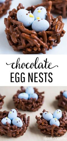 Egg Nest Treats - Made with chocolate, butterscotch and mini Cadbury eggs. An adorable treat for Easter and Spring! Egg Nest Treats - Made with chocolate, butterscotch and mini Cadbury eggs. An adorable treat for Easter and Spring! Easter Snacks, Easter Treats, Easter Desserts, Easter Food, Easter Appetizers, Easter Recipes Nests, Easter Baking Ideas, Easter Subday, Easter 2020